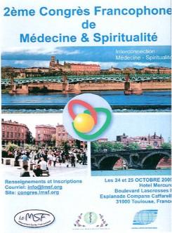 2ème congrès médecine et spiritualité